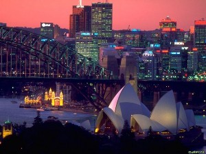 Панорама вечернего Сиднея